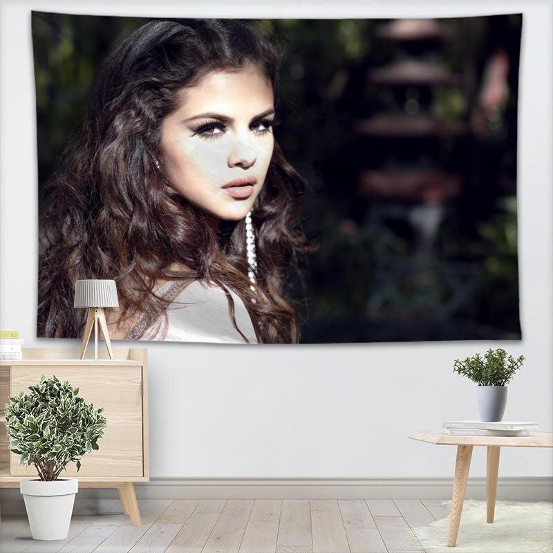 Tapiz de pared personalizado para colgar en la pared Tarot tapiz personalizado de planta tapiz Selena Gomez decoración para el hogar más tamaño