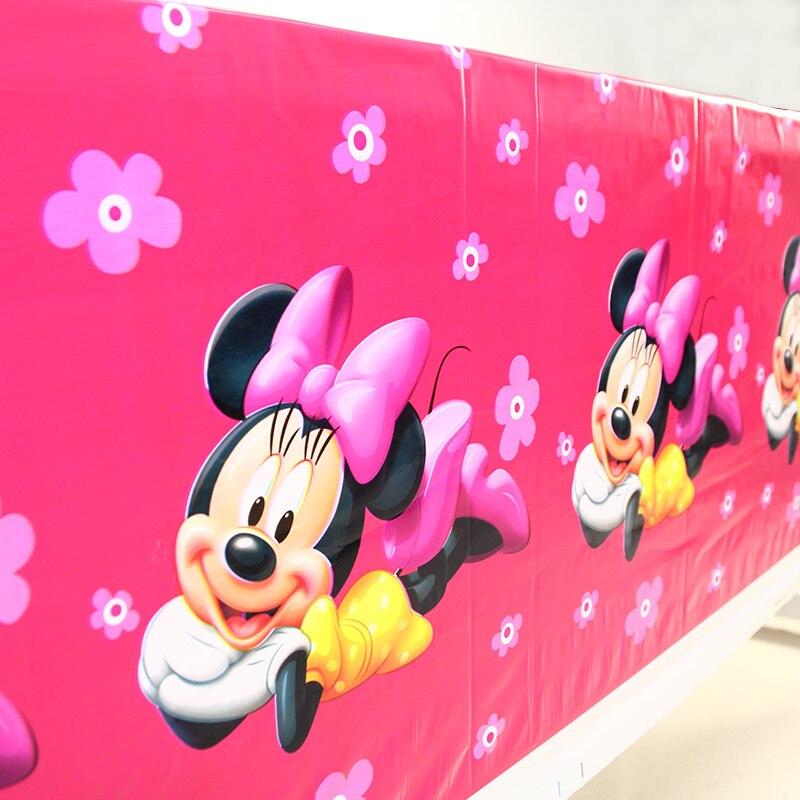 Baby Kinder Geburtstag Party Dekoration Maus Thema Einweg Tischdecke Tischdecke Party Liefert 1.08*1,8 M