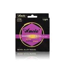 Original Amola. 010-.046 ET100 cordes de guitare électrique Instruments de musique alliage de Nickel cordes de guitare pièces accessoires de guitare