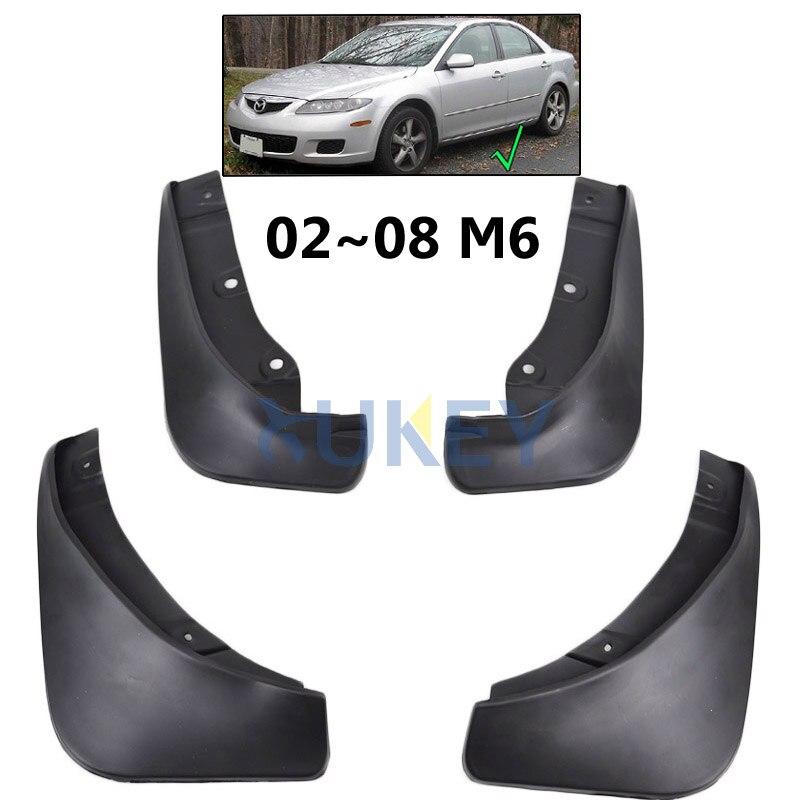 Set de aletas de barro moldeadas para Mazda 6 Sedan 2003-2008 GG guardabarros 2002 2004 2005 2006 2007