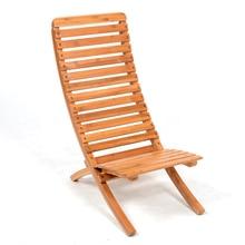 Chaise de fronde de Patio réglable pliable mobilier dextérieur Chaise de hêtre pliante Chaise de bambou extérieure dintérieur Portable