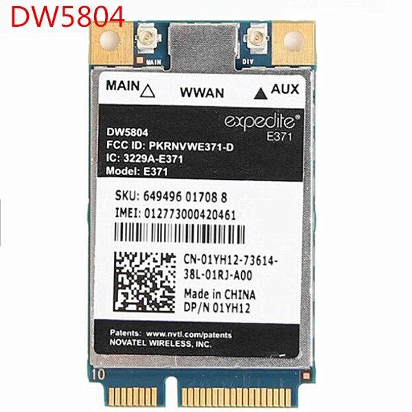 Desbloqueado inalámbrico DW5804 4G LTE/WWAN banda ancha móvil 01YH12 E371 PCI-E 3G/4G tarjeta WLAN WCDMA módulo módem para Dell