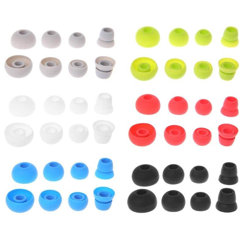 OOTDTY, 4 pares de puntas de silicona para audífono auricular, repuesto para Beats Powerbeats 2/3, auriculares inalámbricos