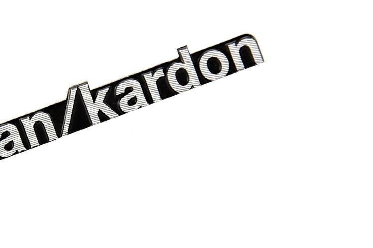 10 unids/lote harman/kardon Hi-Fi altavoz audio 3D insignia de aluminio emblema estéreo con 43x5mm
