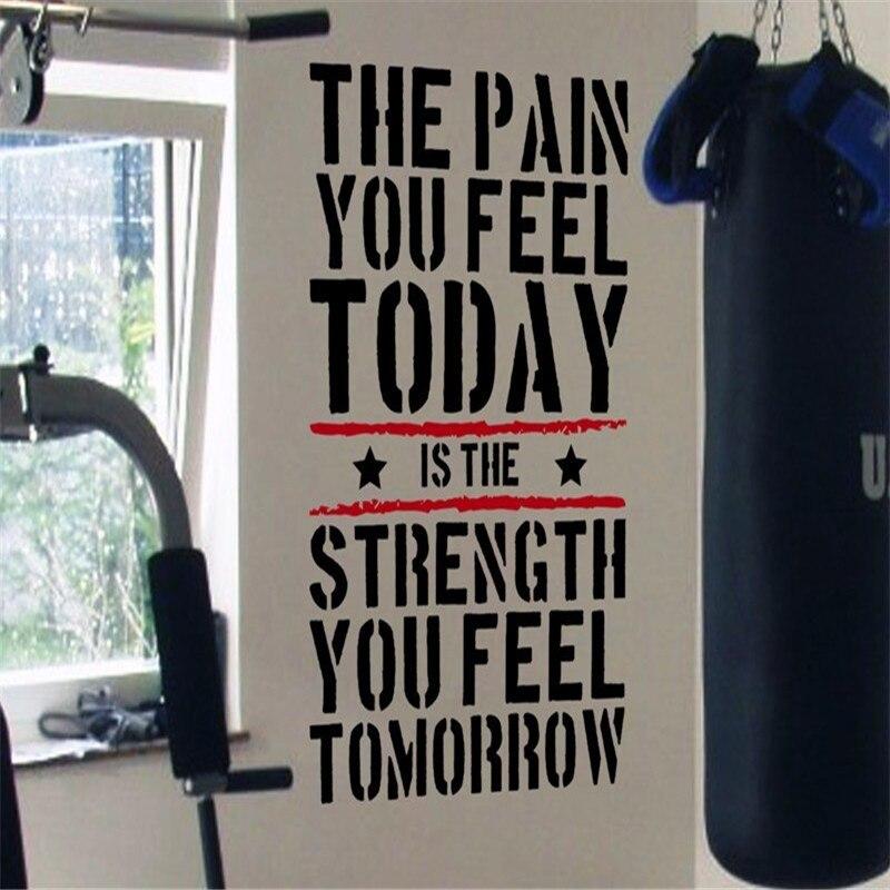 El dolor que sientes hoy... Calcomanía de pared de motivación para gimnasio en casa, calcomanías de pared para entrenamiento de fuerza y ejercicio, calcomanías de pared para habitaciones de niños