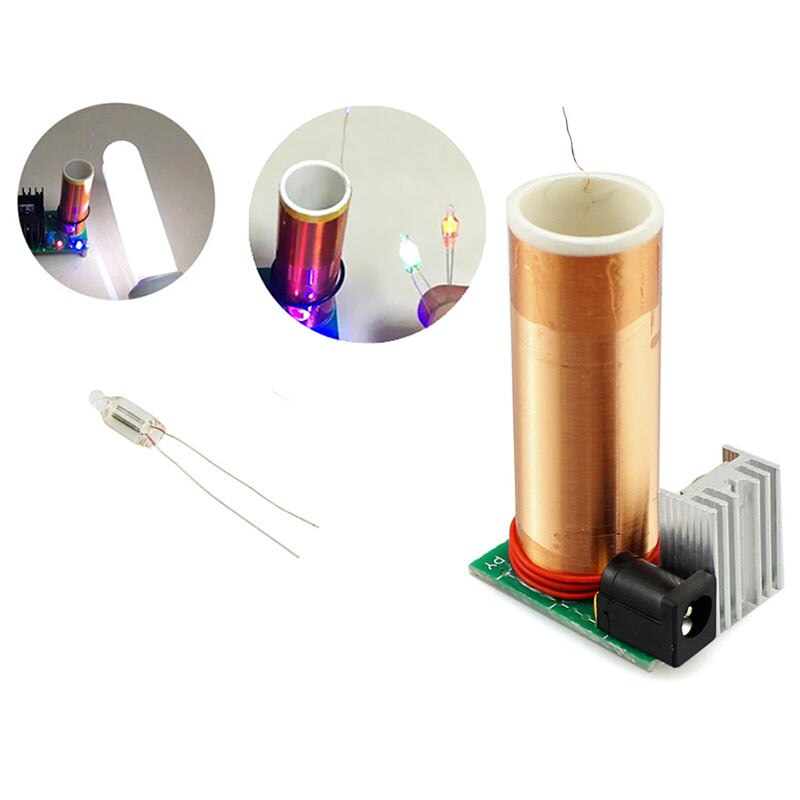Elecrow Mini DIY Kit de bobina Tesla 15W música altavoz de plasma de bobina de Tesla transmisión inalámbrica DC 15-24v para estudiantes