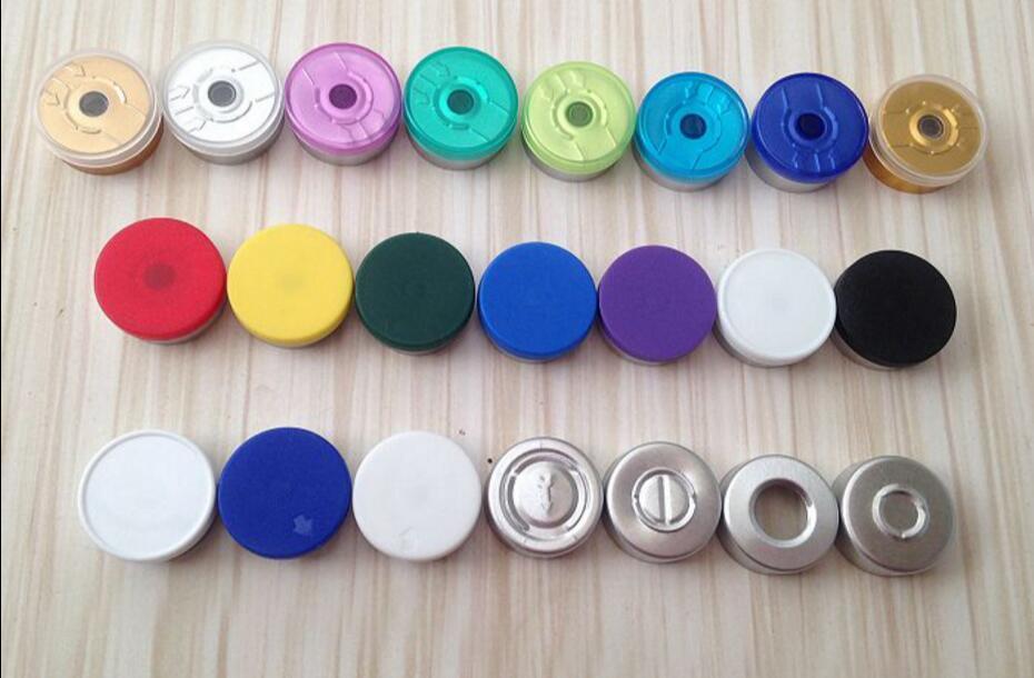1000pcs 20mm Color Options Aluminum-plastic Cap Cover Glass vial bottle top sealed pharmaceutical Caps Easy tear
