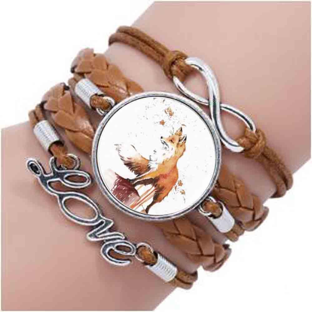 2017 outono raposa pulseira gargantilha instrução pulseira de aço para as mulheres vestido acessórios cúpula de vidro pulseiras arte jóias