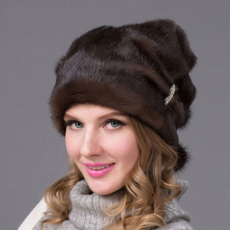 Autumn and winter real fur hat women's fur natural suede fur cap fur ball fashion high-end women's hat DHY-67