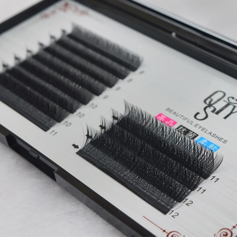 0.07 c onda y forma cílios individuais extensão rápida flor falso vison cílios grosso longo natural artesanal olho cílios maquiagem