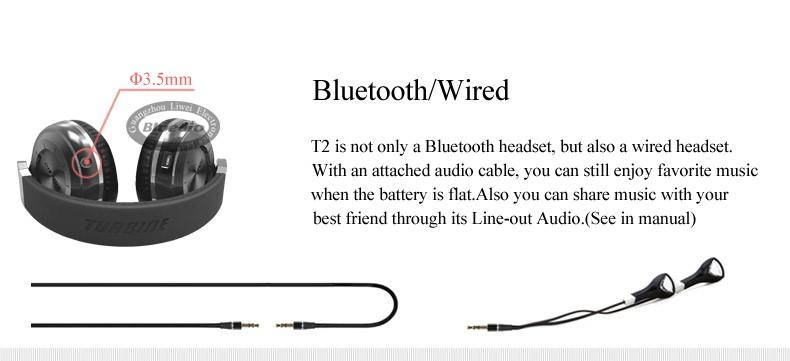 Oryginalne słuchawki bezprzewodowe bluetooth 4.1 zestaw słuchawkowy bluetooth stereo bluedio t2 hurrican serii na ucho słuchawki 6