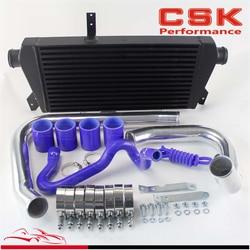 Upgrade fmic intercooler kit, para 96-01 vw passat audi a4 b5 1.8t preto/azul/vermelho