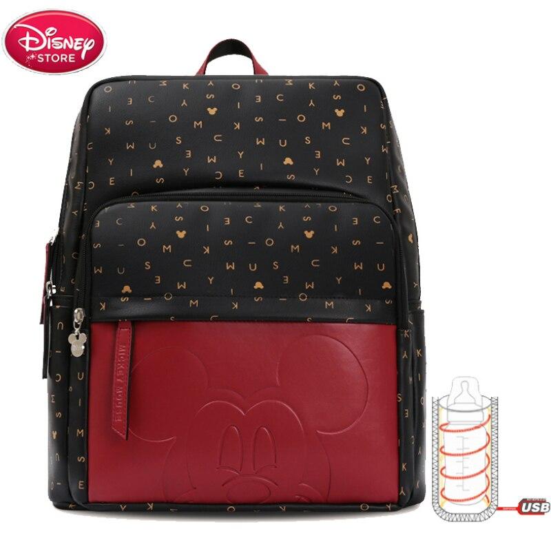 Disney mamá pañal mickey mouse a la moda bolsas para mamá botella bolsa de aislamiento mochila de viaje de diseño bolsa de enfermería para el cuidado del bebé