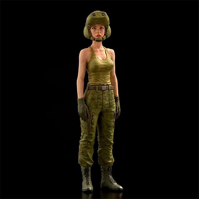 1/35 figuras de resina 1/35 modelo kit feminino driver xd202d