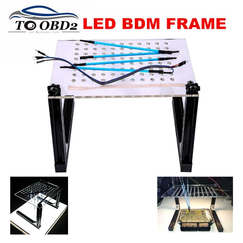 Perfectly ECU Programming Adapter Tool Best DIMSPORT KTAG KESS ECU Modified NEWEST LED Light BDM FRAME 4pcs Probe Pen