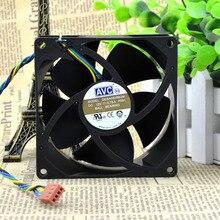 Nouveau original DESA0938B2M 9 cm 9 cm quatre fils PWM CPU contrôle de température double boule haute pression gales châssis ventilateur