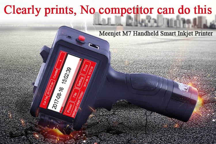 Ручной струйный картридж принтер 2,5 термальный струйный принтер черный, красный, белые чернила