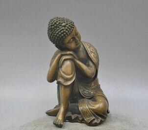 006400 9 bronce, Budismo Dharma Shakyamuni Amitayus Buddha escultura estatua