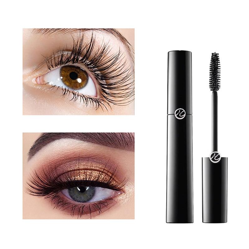 Rimel 4D largo y grueso rizador de pestañas negro alargador impermeable máscara cosméticos fácil de aplicar maquillaje