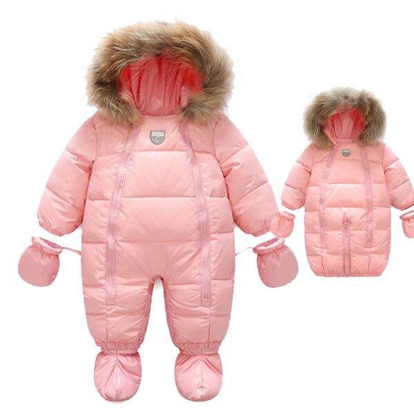 Inverno bebê para baixo jaqueta bebê engrossado macacão bebê sacos de dormir