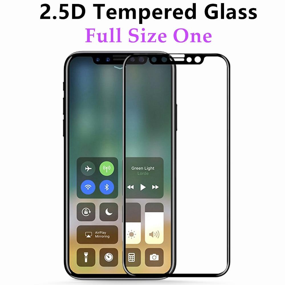 2.5D الزجاج المقسى ل أبل فون X شاشة حامي غطاء كامل تشديد فيلم واقية 10 قطعة/الوحدة