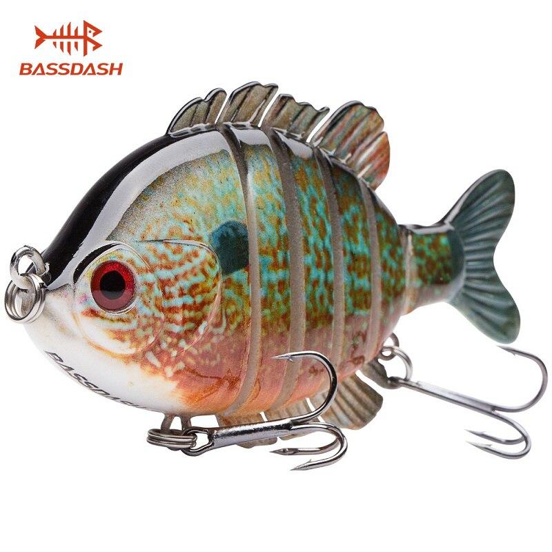 Bassdash SwimPanfish Мульти соединенная Panfish Bluegill Swimbaits Topwater Hard Bass приманка для рыбалки 24 г/8,8 см, 4 вида цветов