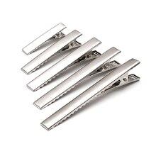 Aiovlo 20 pcs/lot Barrette dents pinces à cheveux utilitaire plat simple broche Alligator Clips bricolage à la main matériel bijoux accessoires