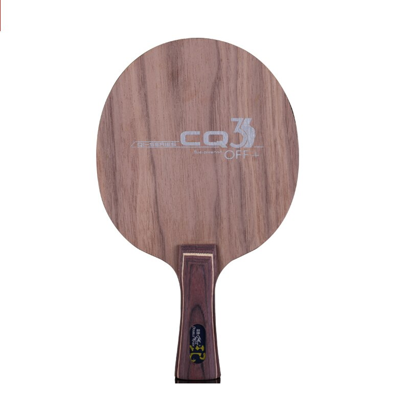 Double fish CQ3 7-PLY Ayous walnut wood composite Carbon fiber offensive professional table tennis racket blade racquet paddle