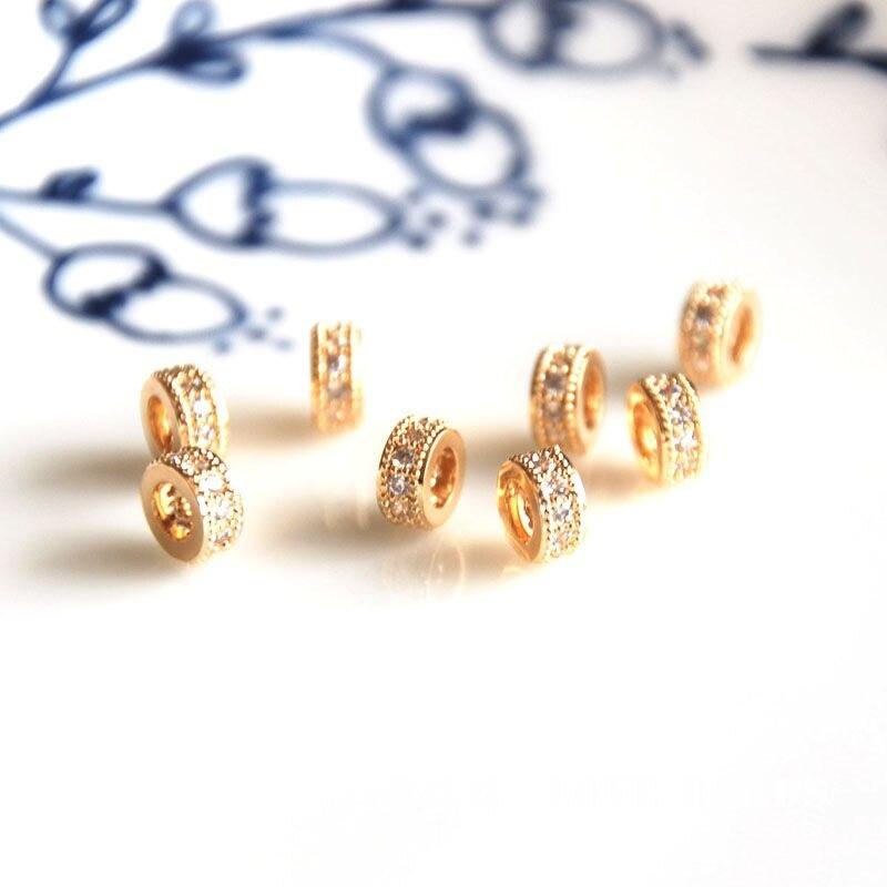 Оптовая продажа 10 шт./лот золотистый разделитель, золотой кубический камень, встроенное Изготовление ювелирных изделий, поделки для женщин