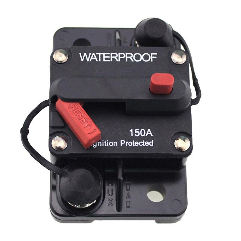 Interruptor de circuito de 150 amperios potencia nominal marina con reinicio Manual a prueba de agua