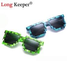 Longue gardien lunettes de soleil offre spéciale lunettes de soleil Creeper lunettes nouveauté mosaïque lunettes 3-14 ans garçons filles Pixel lunettes