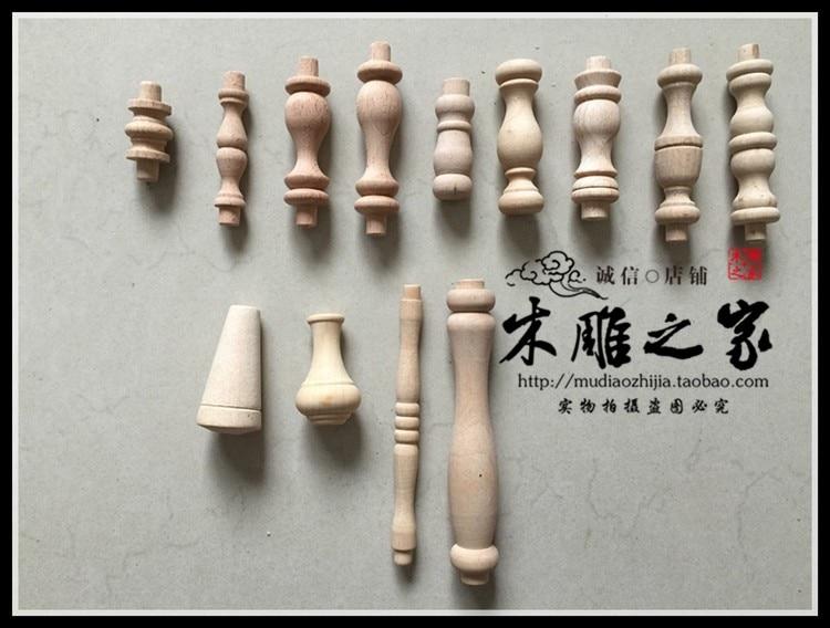 Dongyang tallado en madera gabinete de madera decoración pequeña calabaza pequeña cabeza cilíndrica columna de Roma puente valla de madera poste