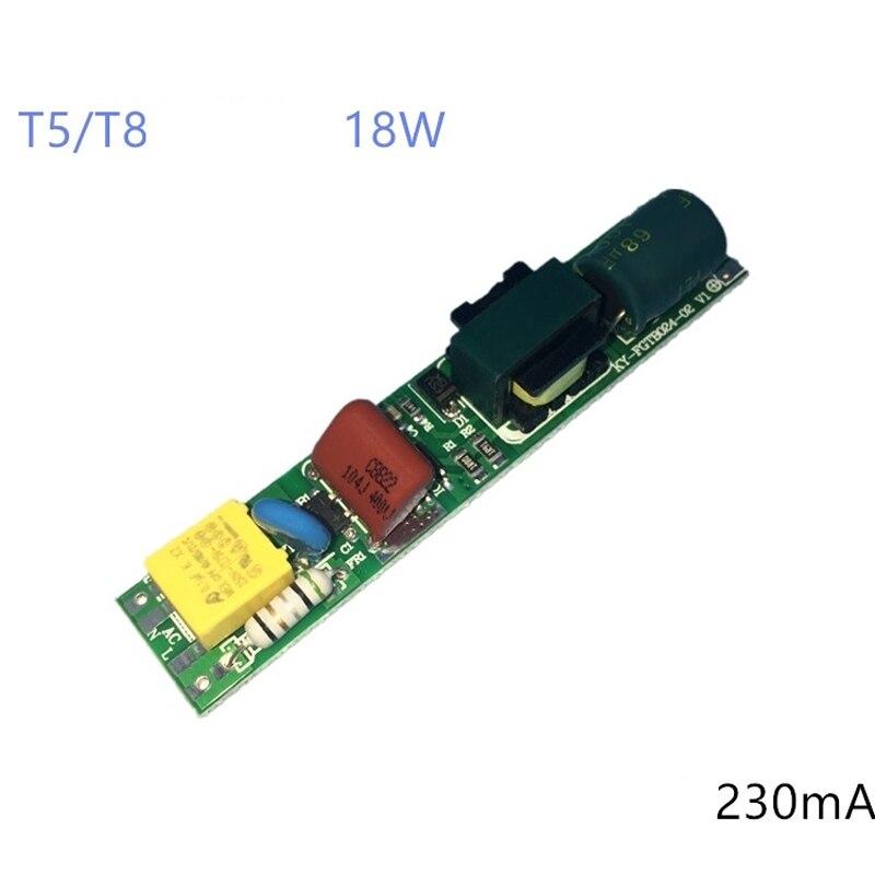 Tubo fluorescente 12-24Series 4 paralelo T5 T8 tablero desnudo Controlador LED 18W corriente constante sin aislamiento con corriente IC 240mA