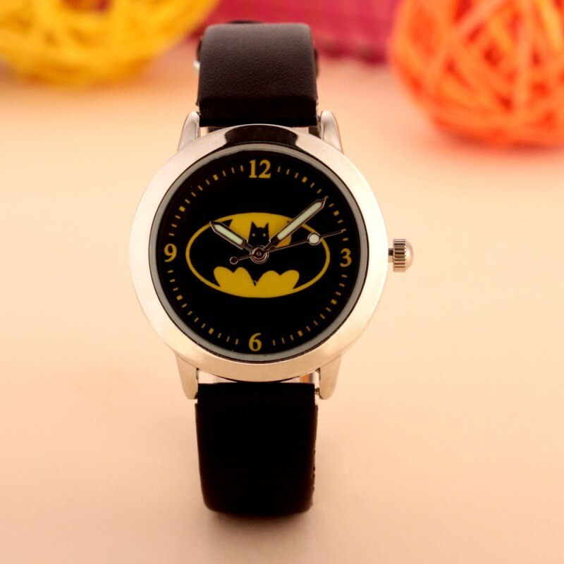 2018 mode Batman design enfants montre Quartz gelée enfants horloge garçons filles étudiants montres Relogio kol saati horloge