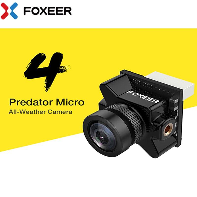 Foxeer Predator Micro V4 FPV Cámara 169/43 PAL/NTSC conmutable Super WDR OSD 4ms latencia control remoto para Dron de carreras