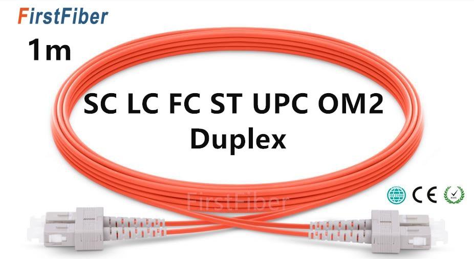 Cable de conexión 1m LC SC ST FC UPC OM2 Cable de...