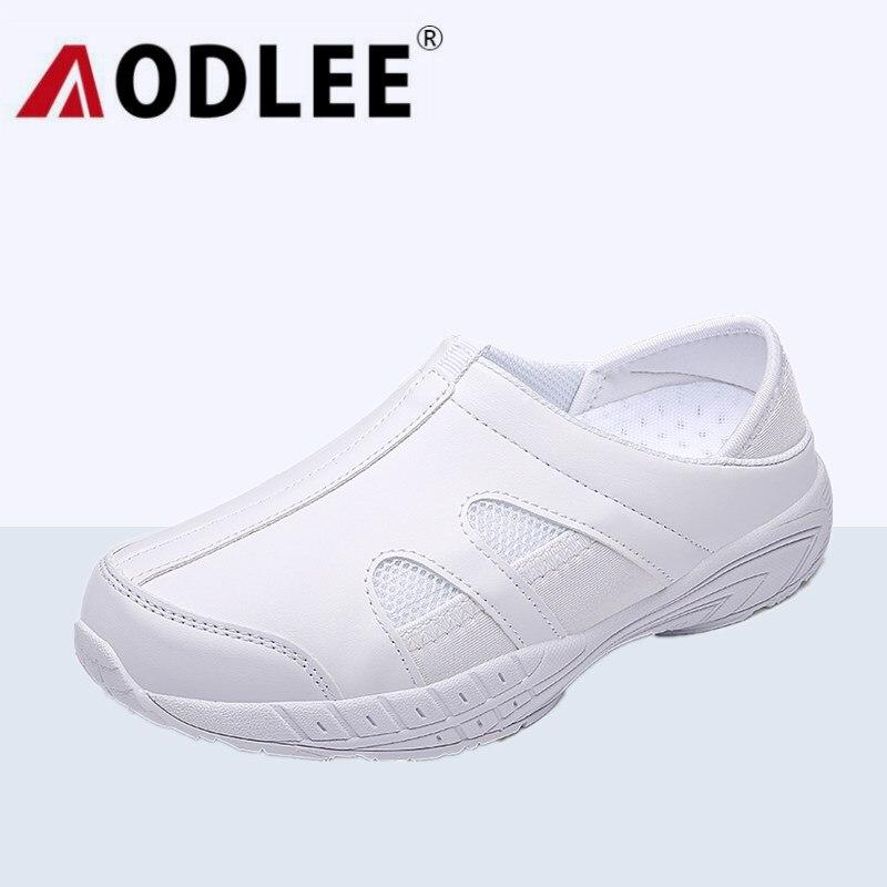 AODLEE luz zapatos planos zapatos de plataforma de las mujeres zapatos de mujer zapatos blancos de enfermería mocasines Slip on zapatos de mujer con plataforma, tipo mocasín zapatillas de deporte
