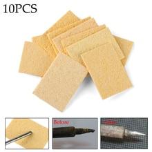 Fer à souder électrique Condense 5 pièces/paquet   Éponge de nettoyage de fer à souder, jaune et chaud