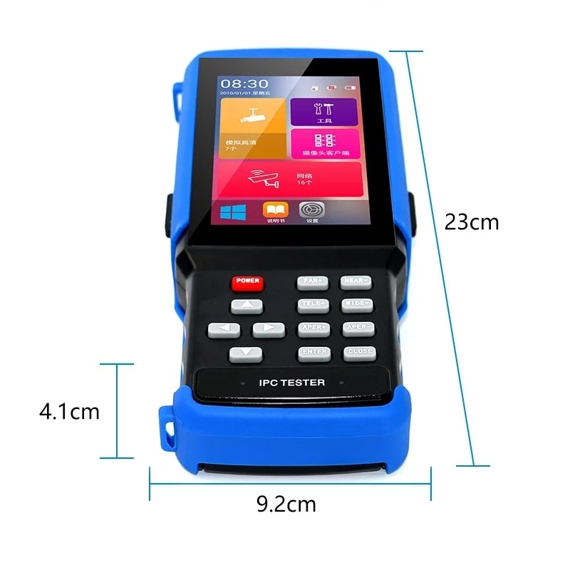 wifi 4.3''Touch screen 5 in 1 CCTV Tester for IPC 5MP TVI/CVI/Analog Camera/wifi/TF BNC/12V OUT/RS485 PTZ /Net Cable Tester enlarge