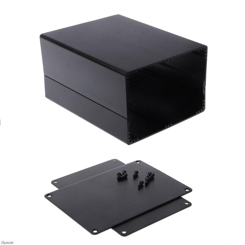 Gabinete de alumínio caso projeto diy caixa de junção de energia 155x120x83mm preto damom