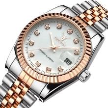 Célèbre marque de mode en acier de luxe en métal bande ROSE or Bracelet montre pour hommes et femmes cadeau robe montres relogio masculino