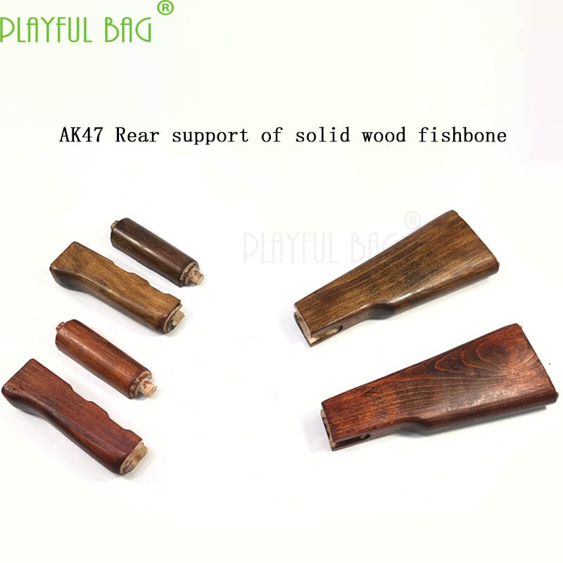 Ak47 especial de carga directa de madera maciza de calidad de respaldo de madera de tres piezas conjunto de caoba de alta calidad AK modificación KJ29