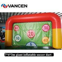 Cible de football gonflable pour tir jeu de sport nouvelle conception terrain de football porte de football gonflable pour enfant et adulte