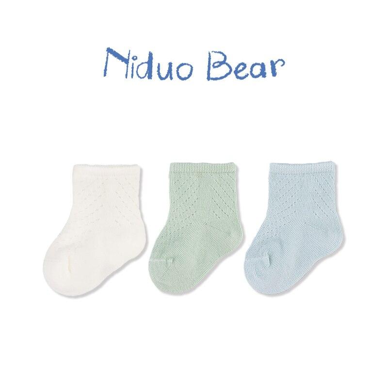 Niduo oso 2019 amor lindo bebé recién nacido calcetines rodilla suave bebé niña NIÑOS Calcetines Sokken Infante niño sólido antideslizante calcetines neonato