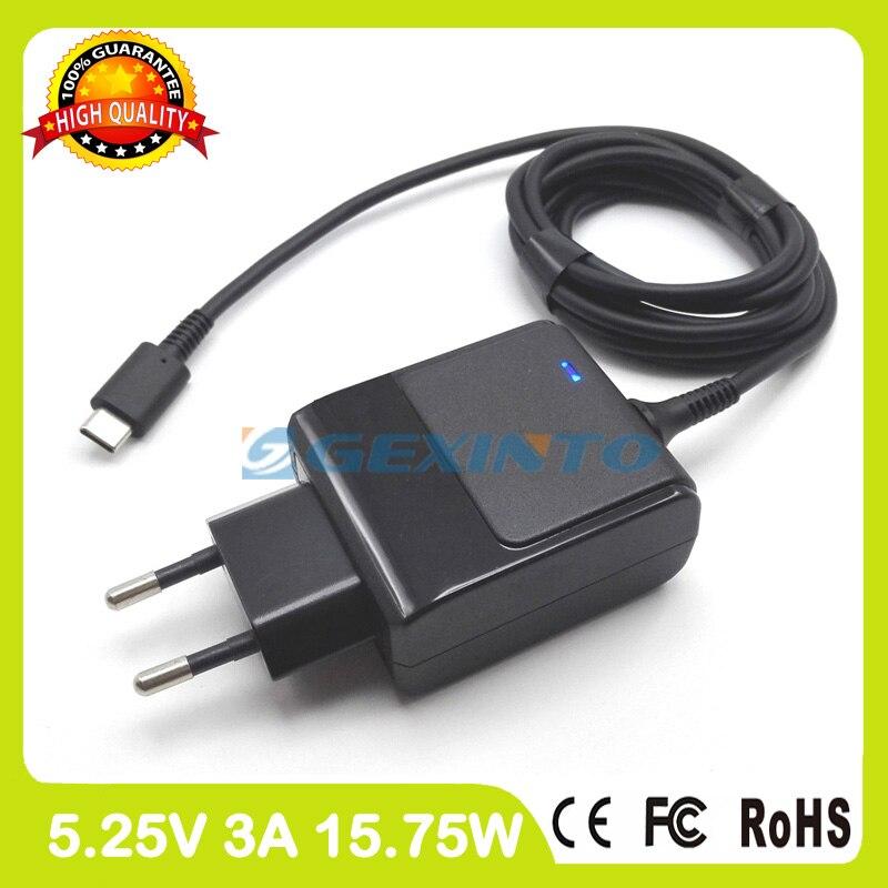 5,25 в 3A USB-C TYPE-C адаптер переменного тока планшетный ПК зарядное устройство для HP Pavilion 10-n100 10-n100 10-n200 10t-n100 x2 TPN-LA01 штепсельная вилка европейского стандарта