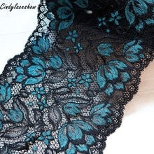16cm de large vêtements dentelle accessoires noir bleu élastique Stretch dentelle bordure en appliqué ruban couture tissus sous-vêtements vêtements de vêtement