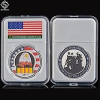 silver liberty eagle 1oz may you never walk alone again military challenge coin w pccb protection