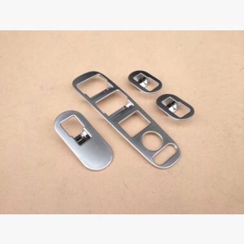 Para Honda VEZEL 2014-2018 4 Uds ABS cromo apoyabrazos de puerta de coche ventana levantador de cristal embellecedor de cubierta de marco de botón accesorios de estilo de coche