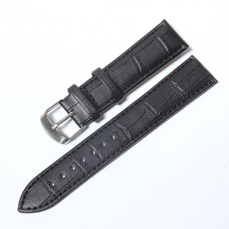 Correa de reloj de cuero con diseño de cocodrilo accesorios de correa de reloj 12mm 14mm 16mm 18mm 20mm 22mm 24mm correa de reloj de Metal