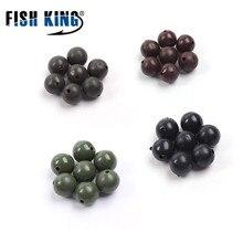 FISH KING 100 pièces 5/6/7/8MM perles de pêche alimentateur crochet de pêche composants carpe appât Cage bouchons perles de carpe plaqués de pêche